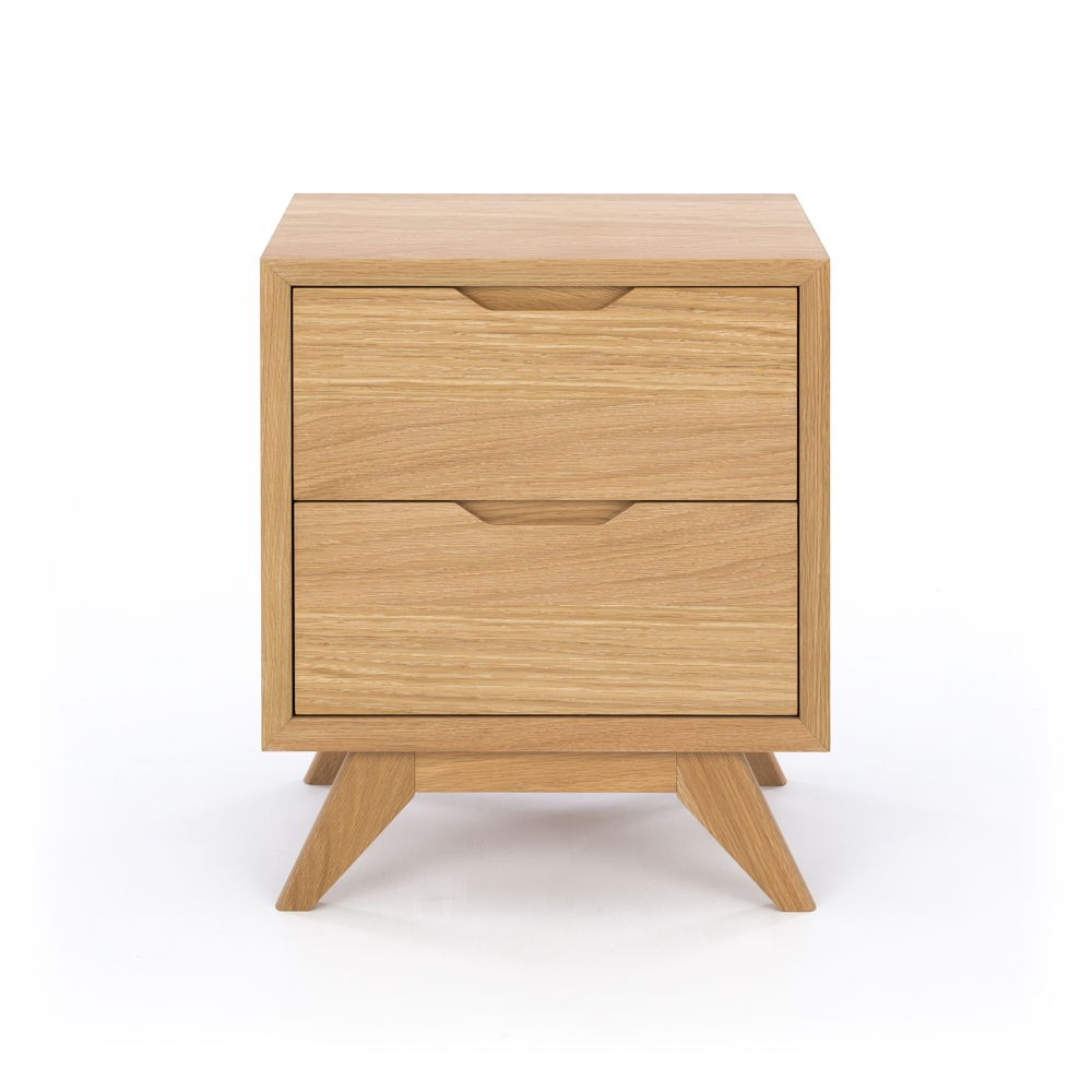 Milano 2 Drawer Bedside
