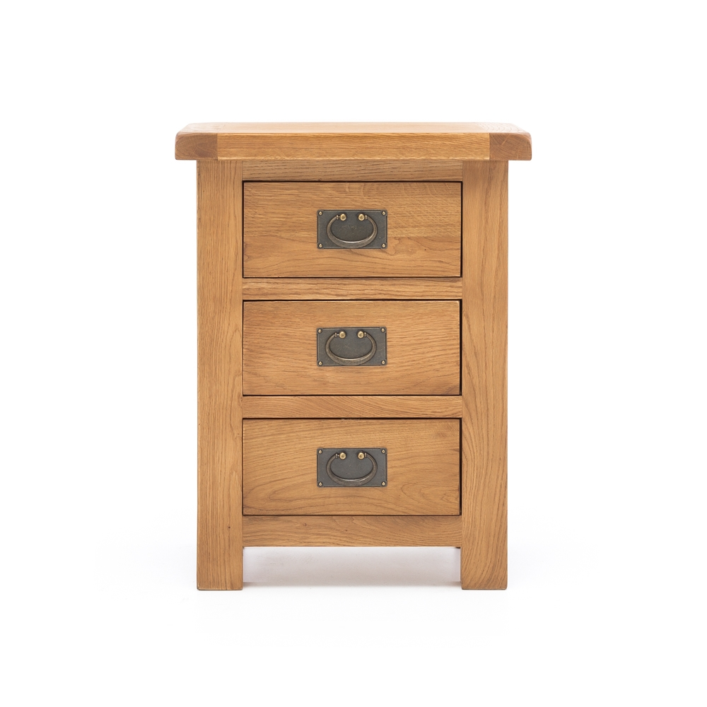 Salisbury 3 Drawer Bedside